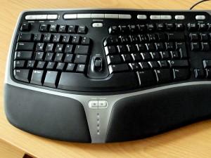 Abbild einer ergonomische PC-Tastatur