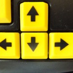 Ansicht der vier Pfeiltasten einer Tastatur
