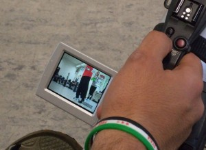 Bedienungsfeld im Kamerabügel und Display