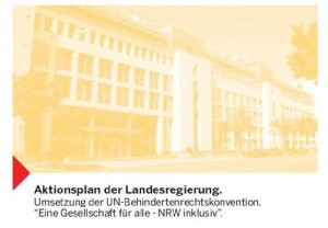 Screenshot Titelseite Aktionsplan NRW inklusiv