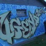 Aussenwand eines Jugendzentrum mit Graffiti Jugendzentrum