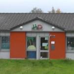 Eingangstüre des Jugendzentrums HIP