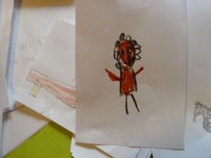 Bildnis eines Mädchens mit rotem Kleid