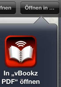 """Icon um ein PDF in Safari mit dem """"PDF Voice Reader! zu öffnen."""