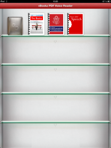 Screenshot von vBookz PDF Voice Reader - Startbildschirm