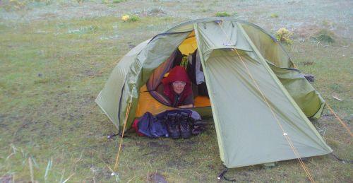 Regina Klinkenberg im Zelt
