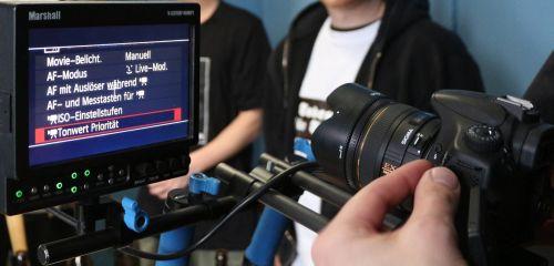 Detailaufnahme einer Kameraaufnahme