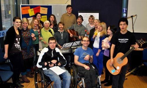 Projektgruppe beim Singen