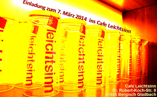 Cafe Leichtsinn Flyer