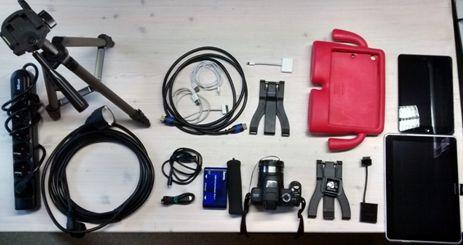 Ausrüstung für Fotoprojekt