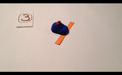 Papierstreifen zum Entfernungmessen für StopMotion