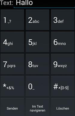 Virtuelle Tastatur von BlindShell