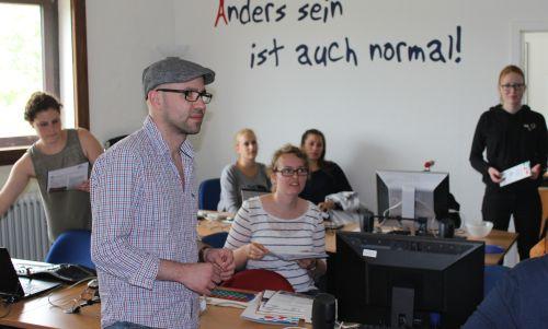 Studierende der Katholischen Hochschule Bonn bei barrierefrei kommunizieren! in Bonn