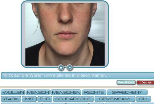 Screenshot des Lippenlesespiels