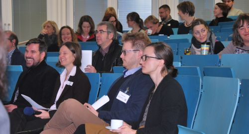 Teilnehmende des Fachgesprächs im Hörsaal der TH Köln