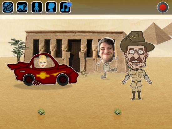 """Screenshot der App """"PuppetPalls"""" zu sehen sind drei Charaktere."""