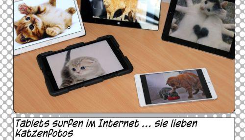 Auszug aus dem Comic: Tablets mit Katzenfotos