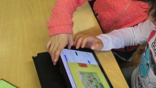 Kinder lernen mit dem iPad
