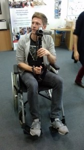 Videodreh im Rollstuhl