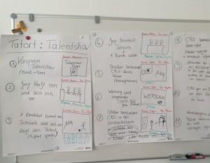 Storyboard im Rahmen eines inklusiven Filmprojekts