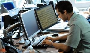 Sehbehinderten Arbeitsplatz