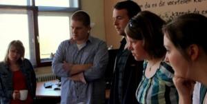 Studierende beim Workshop bei barrierefrei kommunizieren! in Bonn