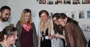 Studierende beim Workshop Unterstützenden Technologien für die Kinder- und Jugendarbeit bei barrierefrei kommunizieren! in Bonn