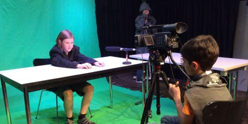 Filmaufnahme vor Greenscreen
