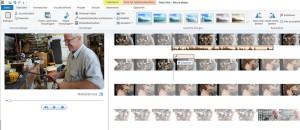 Screenshot MovieMaker mit Beispielfilm: Funktion Kopieren