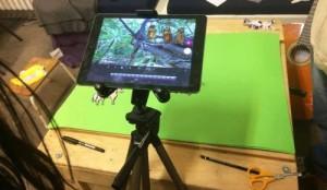 iPad bei der Filmaufnahme