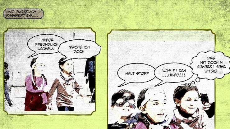 Comicausschnitt: Der Schmuckraub