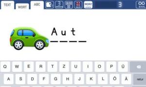 Screenshot der App Schreiben und Lernen LDS