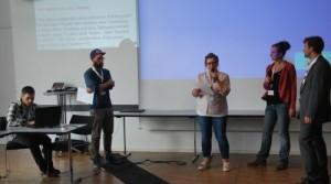 Die Moderatoren von Camp Nimm und Session-Teilgebende