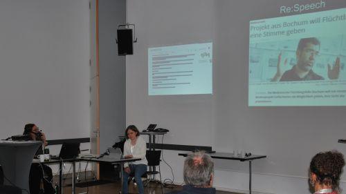 Cinderella Glücklich während ihrer Camp-Nimm Session Inklusive Medienarbeit und Einführung in das inklusive Campaigning