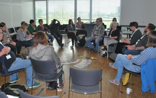Teilnehmende der Session Inklusive Medienarbeit für junge Geflüchtete