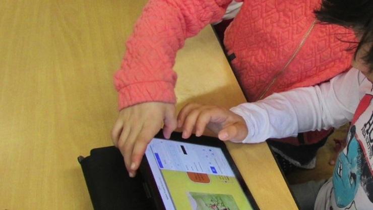 iPad mit Lese-App