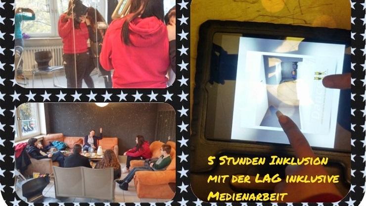 Postkarte mit Motiven aus Coaching-Projekt im Haus der Jugend Neuss