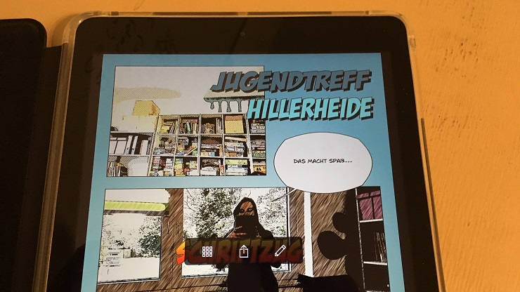 Tablet mit Comic