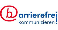 Logo von barrierefrei kommunizieren!