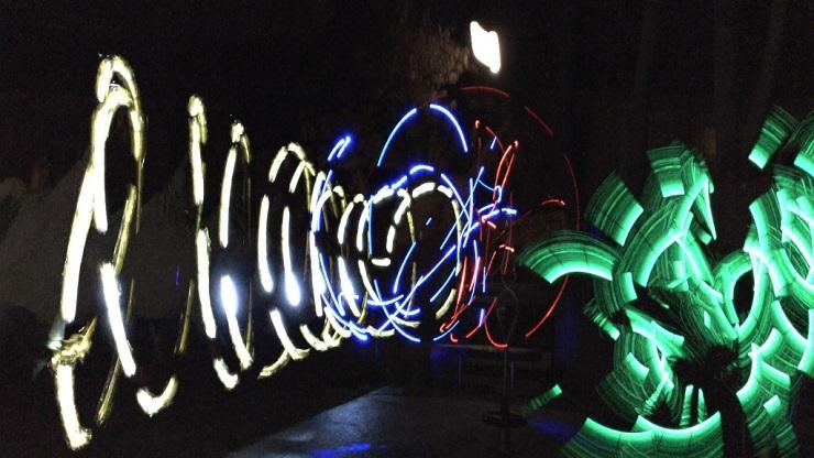 Lightpainting Motiv