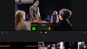 Filmspur in iMovie. Die Tonaufnahme läuft