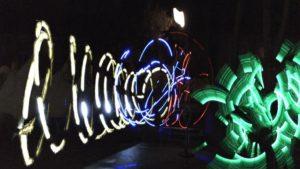 Mit Licht gemaltes Lightpainting-Foto