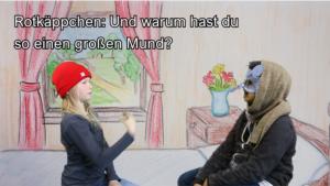 Szene aus dem Film Rotkäppchen in Gebärdensprache