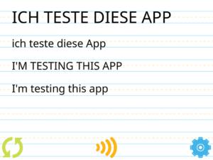 Screenshot der App Einfache Rechtschreibhilfe