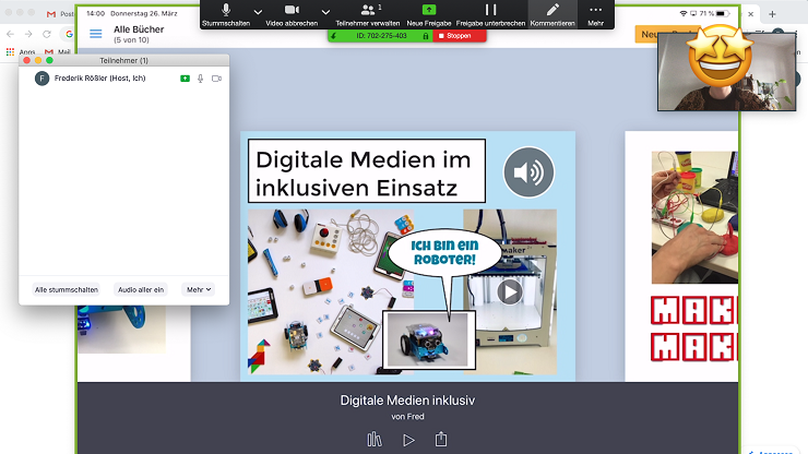 Screenshot Zoom-Konferenz