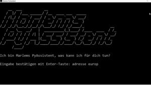 Screenshot der Oberfläche von PyAssistent