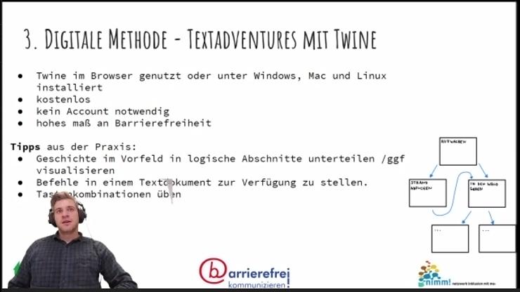 Johannes Rück während des Streams des Online-Workshops