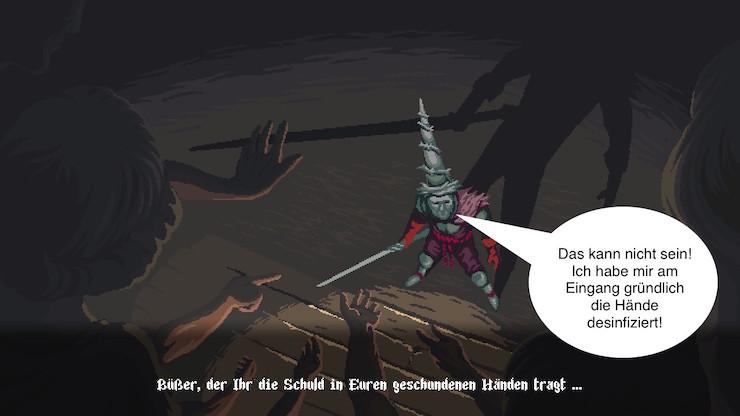 Ausschnitt aus dem Computerspiel Blasphemous