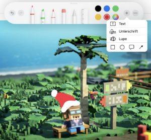 Videospielscreenshot, bearbeitet mit der Foto-App