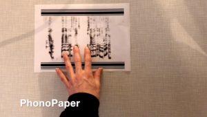 PhonoPaper-Code auf Papier